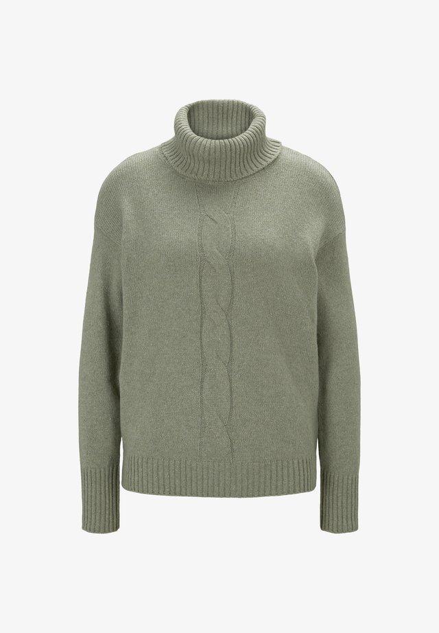 MIT ZOPFMUSTER - Sweter - calm green melange