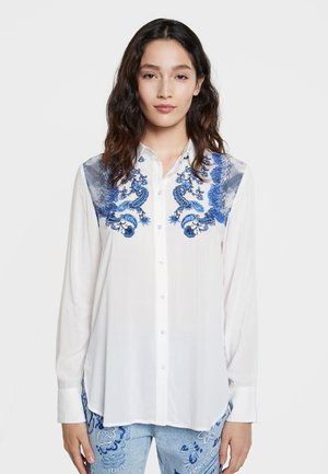 BARCINO - Button-down blouse - white