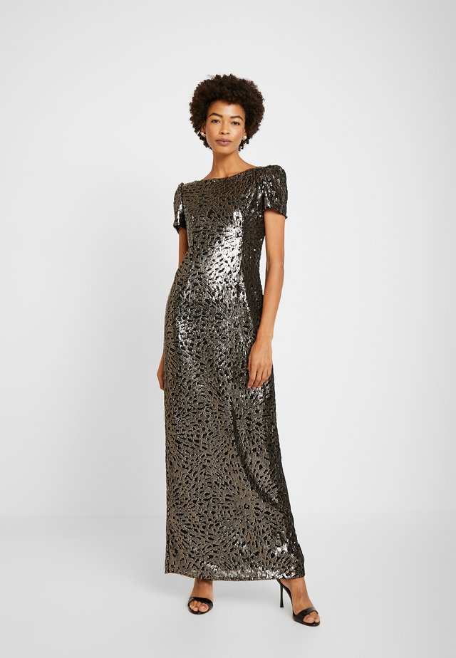 SEQUIN COLUMN GOWN - Occasion wear - black/gold