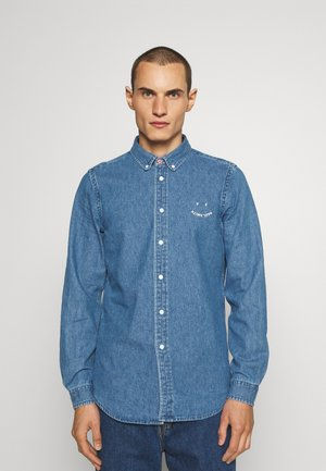 TAILORED FIT HAPPY - Košile - blue denim