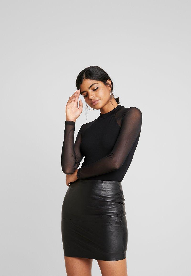 Even&Odd - BODYSUIT - Bluzka z długim rękawem - black