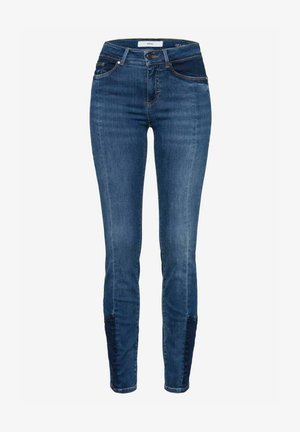 STYLE ANA - Jeans Skinny - used patched blue