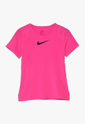 T-shirt basic - vivid pink/black