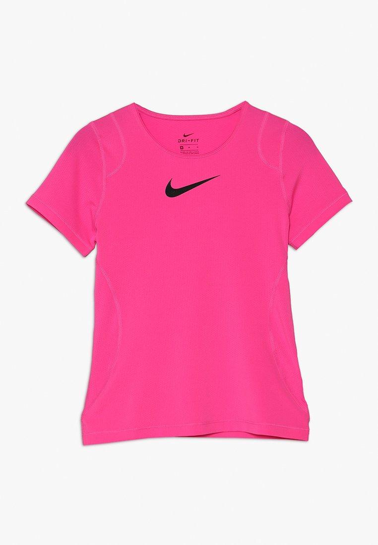 Nike Performance - Jednoduché triko - vivid pink/black