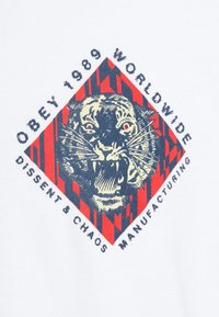 Obey Clothing - OBEY DISSENT & CHAOS TIGER - Printtipaita - white - 2