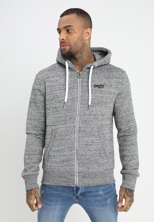 LABEL ZIPHOOD - Felpa aperta - flint grey grit