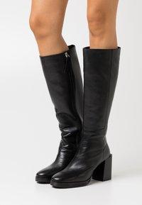 ASRA - KINGDOM - Boots med høye hæler - black - 0