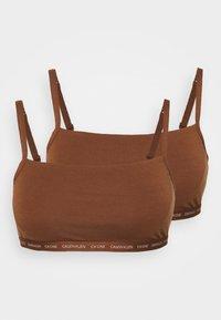Calvin Klein Underwear - ONE UNLINED BRALETTE 2 PACK - Steznik - spruce - 3