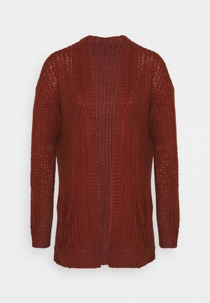JDYHAIRY CARDIGAN  - Cardigan - russet brown