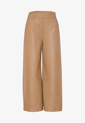 CULOTTE - Pantalon en cuir - camel