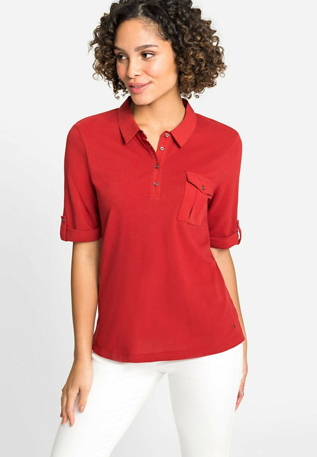 MIT BRUSTTASCHE - Polo shirt - rot