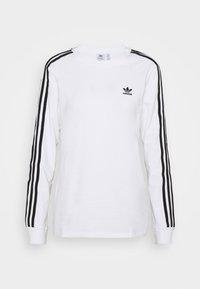3-STRIPES ADICOLOR - Bluzka z długim rękawem - white/black