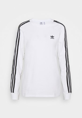 3-STRIPES ADICOLOR - T-shirt à manches longues - white/black
