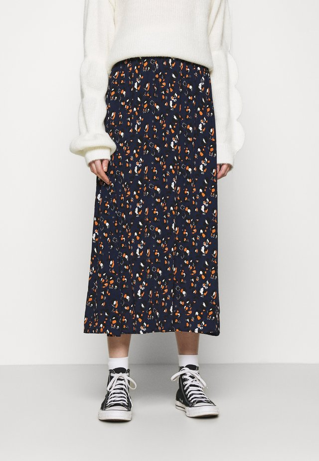 VIKITTIE SKIRT - A-line skirt - navy blazer/black/paloma/adobe