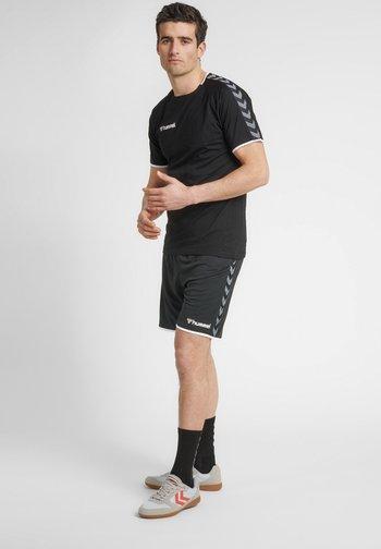 HMLAUTHENTIC  - Sports shorts - black/white