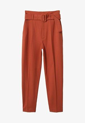 STRAIGHT-FIT - Pantalones chinos - burnt orange