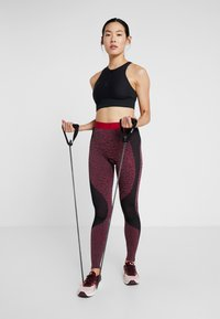 ODLO - BOTTOM PANT PERFORMANCE - Punčochy - black/cerise - 1