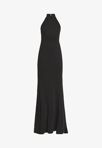 HALTERNECK GOWN WITH FISHTAIL HEM