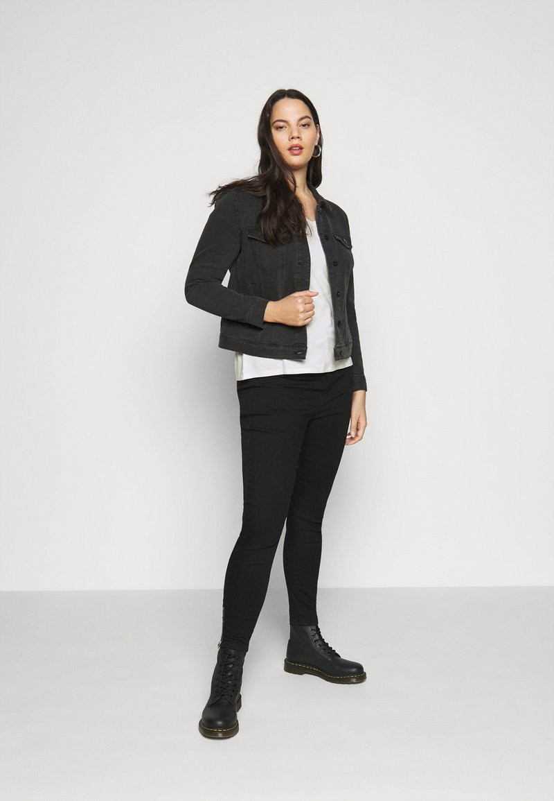 Anna Field Curvy 2 PACK - T-Shirt basic - black / white/schwarz 3O9LI8