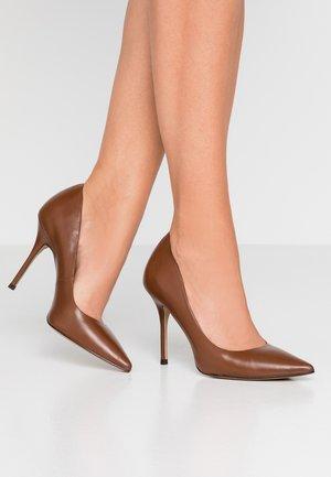 GALICIA - High heels - cognac