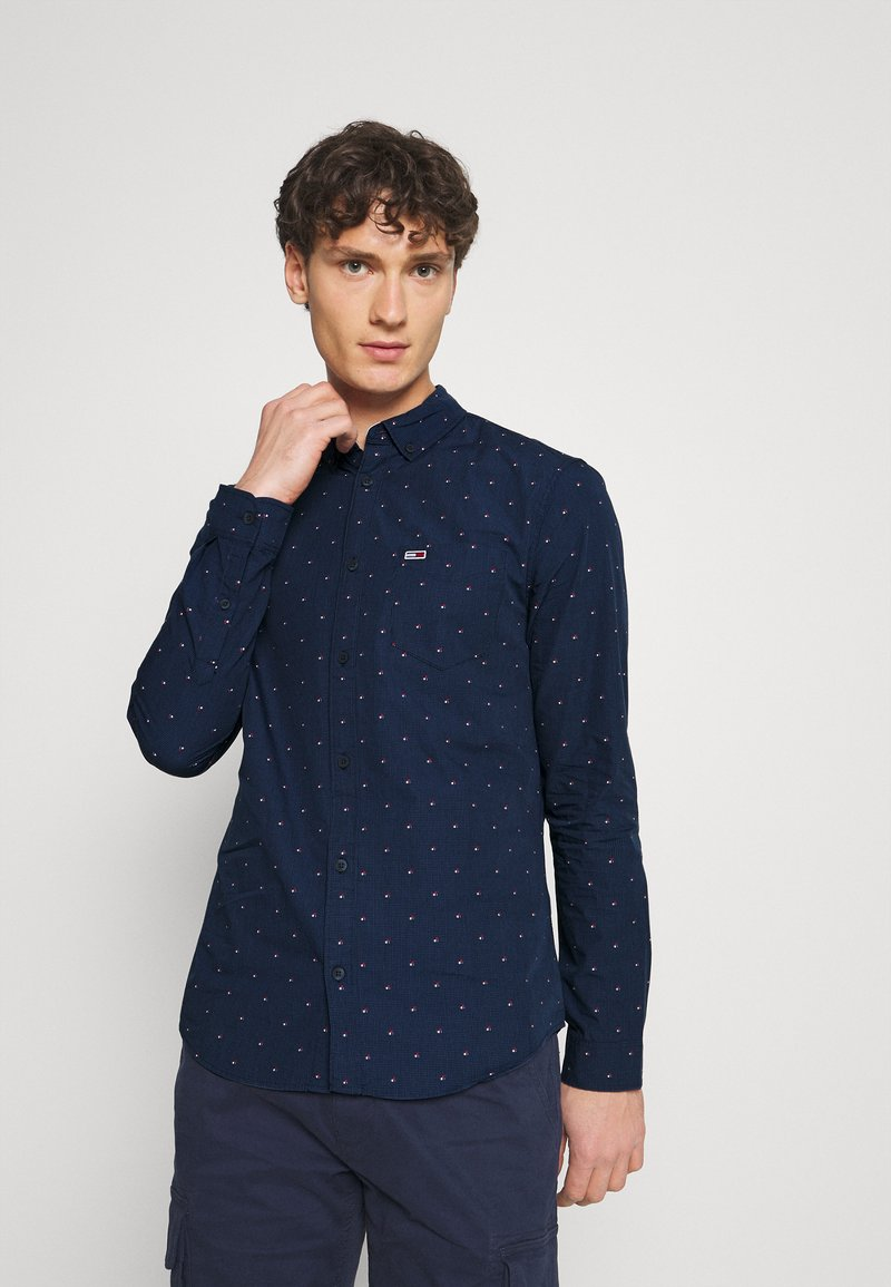 Tommy Jeans - DOBBY SHIRT - Shirt - blue