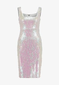 Rare London - SEQUIN DRESS - Vestido de tubo - white - 4