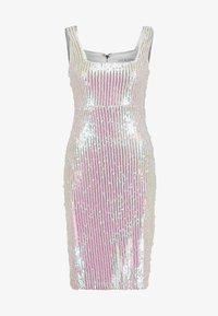 Rare London - SEQUIN DRESS - Tubino - white - 4