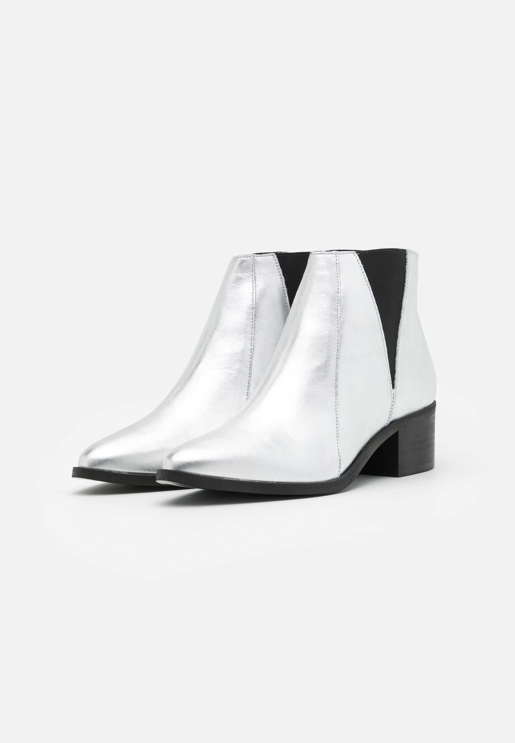 Anna Field LEATHER Ankle Boot silver/silber