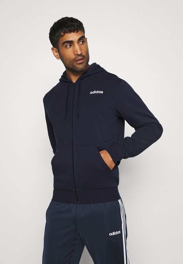 ESSENTIALS SPORTS HOODED TRACK - veste en sweat zippée - dark blue