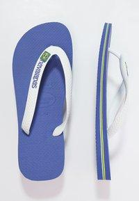 Havaianas - BRASIL LOGO - Japonki kąpielowe - blue, white - 1