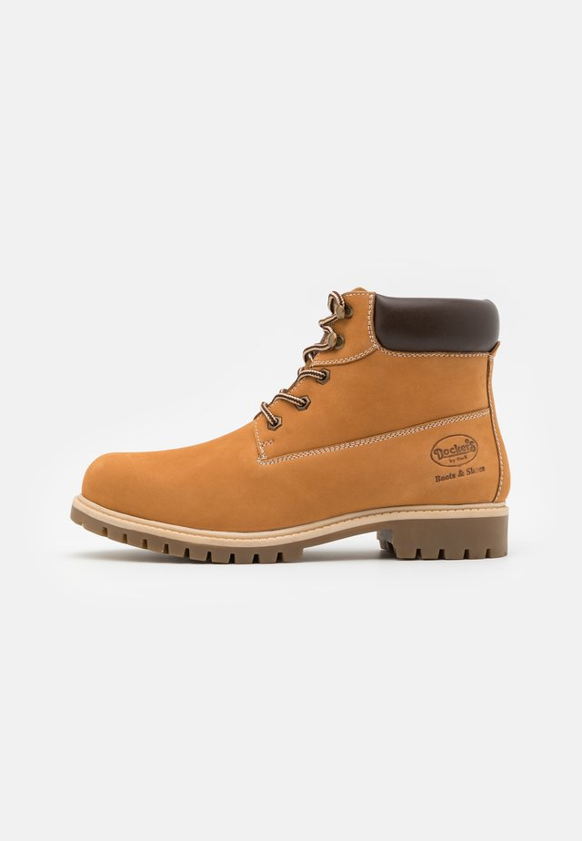 Bottines à lacets - golden tan
