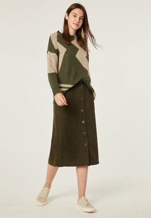 A-line skirt - kaki