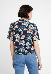 Abercrombie & Fitch - RESORT POCKET TEE - Button-down blouse - navy - 3