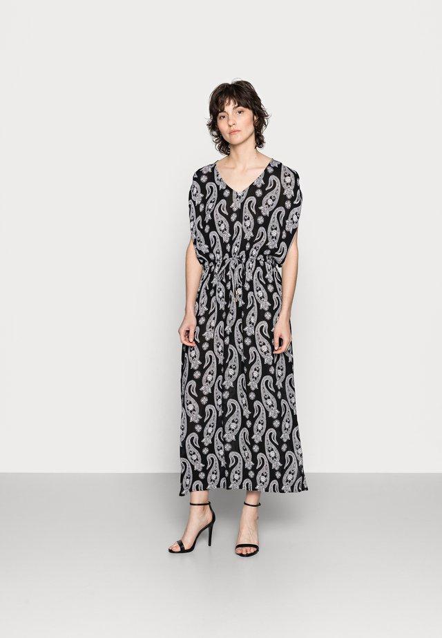 KAPAIS AMBER DRESS - Korte jurk - black/chalk