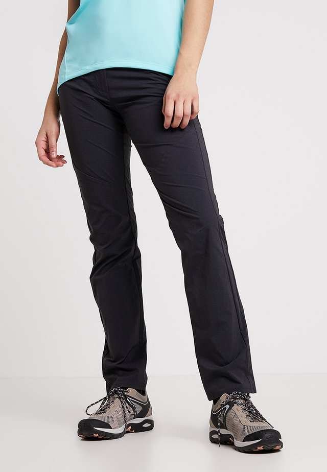 HIKING PANTS WOMEN - Ulkohousut - black