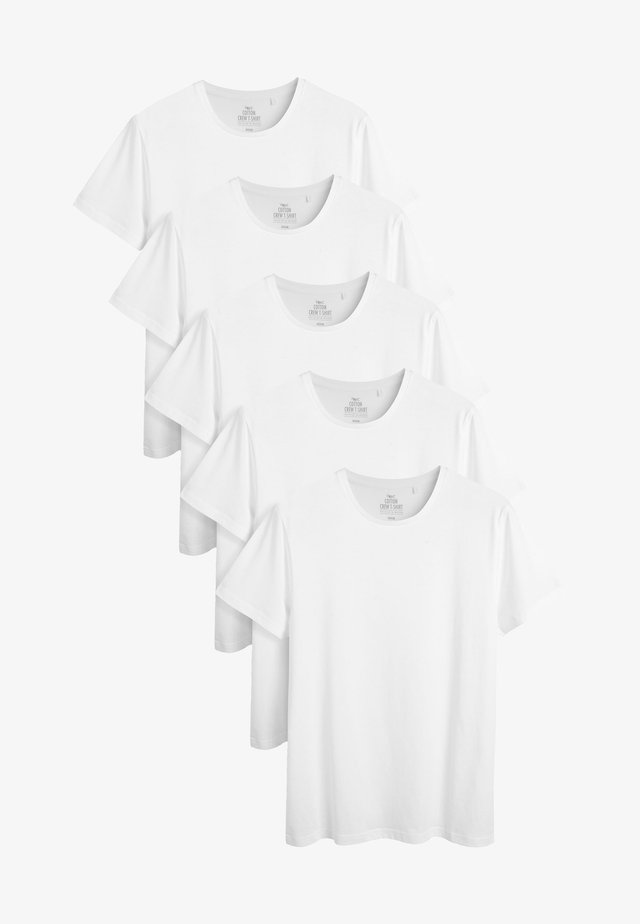 FIVE PACK - Jednoduché triko - white