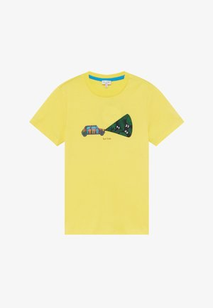 ABDEL - Print T-shirt - yellow