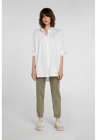 Oui - Button-down blouse - optic white - 1