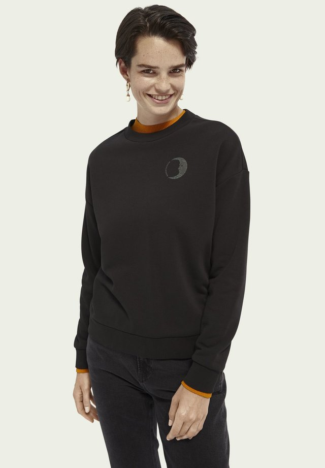 COTTON-BLEND REFLECTIVE - Sweater - black