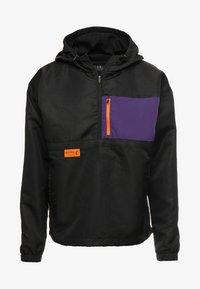 Cayler & Sons - BOX HALF ZIP - Windbreaker - black/purple - 5