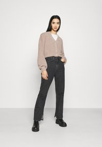 Nly by Nelly - CROPPED FUZZY  - Cardigan - beige - 1