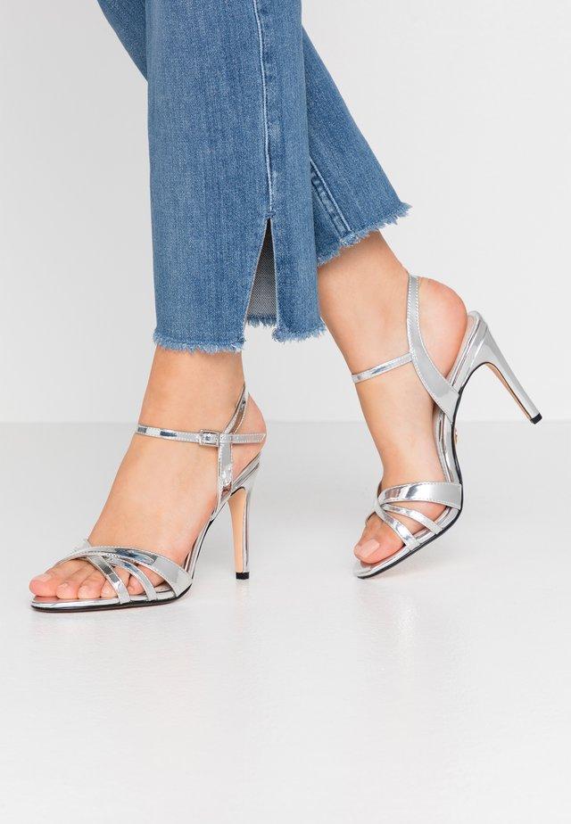 ANJA - High heeled sandals - silver