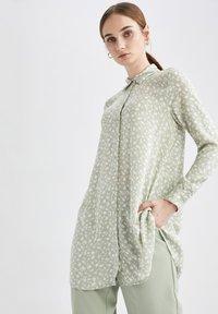 DeFacto - Button-down blouse - ecru - 4