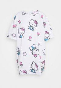 NEW girl ORDER - HELLO TEE DRESS - Vestito di maglina - white - 4