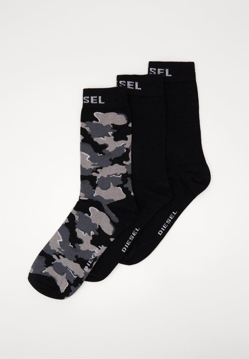 Diesel - SKM-RAY 3 PACK - Socks - black/grey