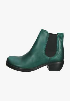 Botines - shamrock green black elastic