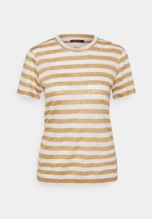 SHORT SLEEVE ROUND NECK SLIM FIT STRIPED - T-shirts med print - mutli/sandy beach