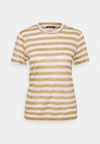 SHORT SLEEVE ROUND NECK SLIM FIT STRIPED - T-shirt imprimé - mutli/sandy beach