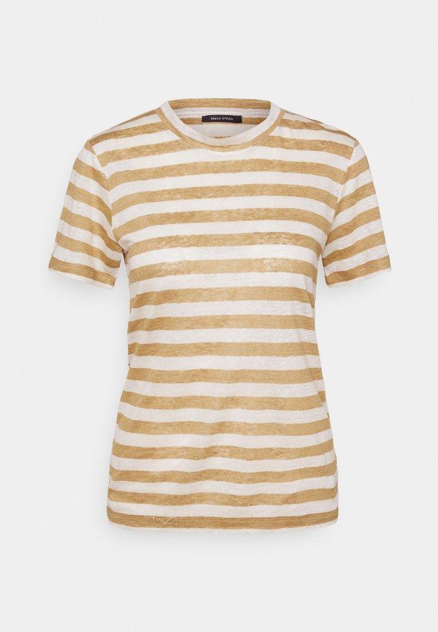 SHORT SLEEVE ROUND NECK SLIM FIT STRIPED - T-shirt con stampa - mutli/sandy beach
