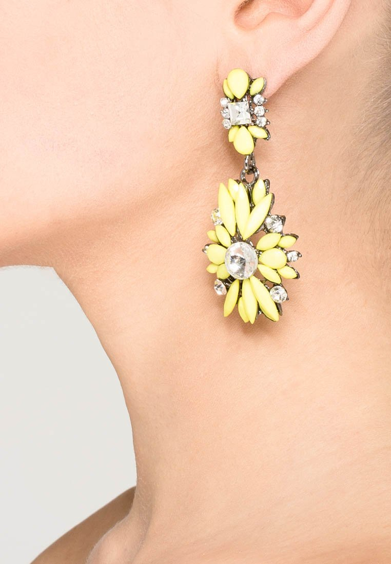 sweet deluxe - Earrings - silberfarben/gelb